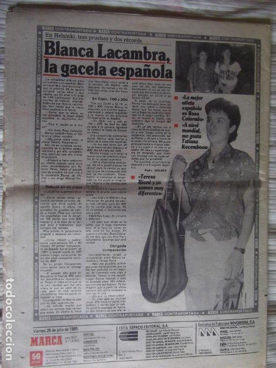 Coleccionismo deportivo: MARCA-1985-Nº13543-SANTILLANA-DA SILVA-AMARILLA-GORDILLO-BLANCA LACAMBRA - Foto 4 - 21142157