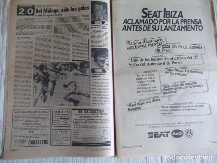 Coleccionismo deportivo: MARCA-1984-Nº13314-40 PAGINAS-JORNADA DE LIGA-LUIS-VENABLES-ORMAECHEA-BENITEZ-CLEMENTE-AZCARGORTA - Foto 7 - 23618318