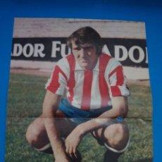Coleccionismo deportivo: POSTER DE FUTBOL DE CHURRUCA DEL SPORTING DE GIJON DE AS COLOR****. Lote 210183576