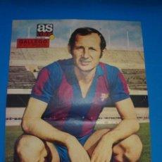 Coleccionismo deportivo: POSTER DE FUTBOL DE GALLEGO DEL F.C. BARCELONA DE AS COLOR****. Lote 210184338