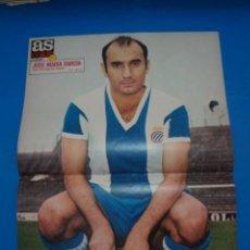 Coleccionismo deportivo: POSTER DE FUTBOL DE JOSE MARIA GARCIA DEL R.C.D. ESPAÑOL-ESPANYOL DE AS COLOR****. Lote 210192955