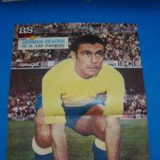 Coleccionismo deportivo: POSTER DE FUTBOL DE GERMAN DEVORA DE LA U.D. LAS PALMAS DE AS COLOR****. Lote 210193065