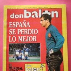 Collezionismo sportivo: REVISTA DON BALON Nº 767 SELECCION ESPAÑOLA ELIMINADA MUNDIAL ITALIA 90 - ESPAÑA WORLD CUP 1990. Lote 210223558
