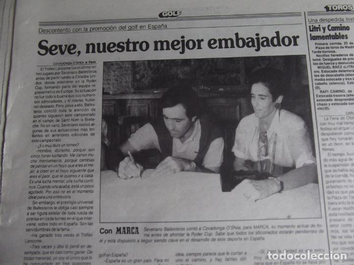 Coleccionismo deportivo: MARCA-1987-Nº14221-32 PAGINAS-BUTRAGUEÑO-REXACH-ZUBIZARRETA-SARABIA-MARTIN VAZQUEZ-MARINA-MARADONA - Foto 5 - 21149036