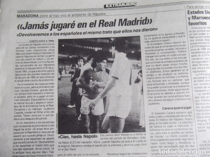 Coleccionismo deportivo: MARCA-1987-Nº14221-32 PAGINAS-BUTRAGUEÑO-REXACH-ZUBIZARRETA-SARABIA-MARTIN VAZQUEZ-MARINA-MARADONA - Foto 6 - 21149036