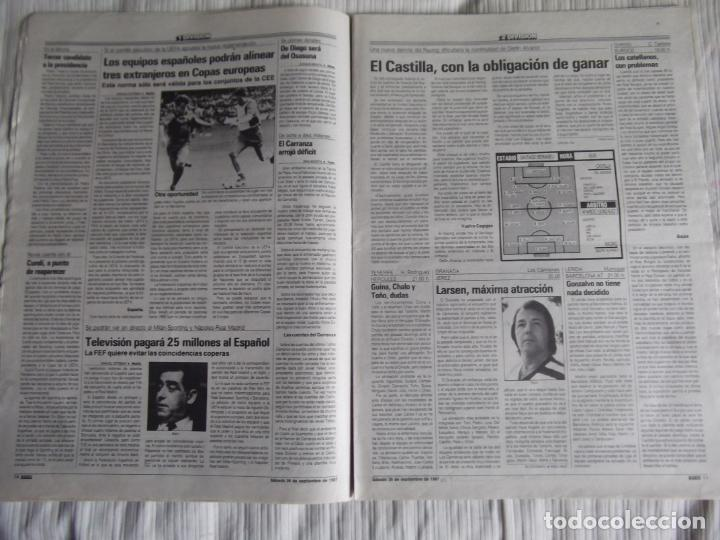 Coleccionismo deportivo: MARCA-1987-Nº14221-32 PAGINAS-BUTRAGUEÑO-REXACH-ZUBIZARRETA-SARABIA-MARTIN VAZQUEZ-MARINA-MARADONA - Foto 7 - 21149036