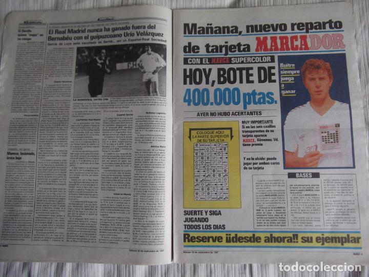 Coleccionismo deportivo: MARCA-1987-Nº14221-32 PAGINAS-BUTRAGUEÑO-REXACH-ZUBIZARRETA-SARABIA-MARTIN VAZQUEZ-MARINA-MARADONA - Foto 8 - 21149036