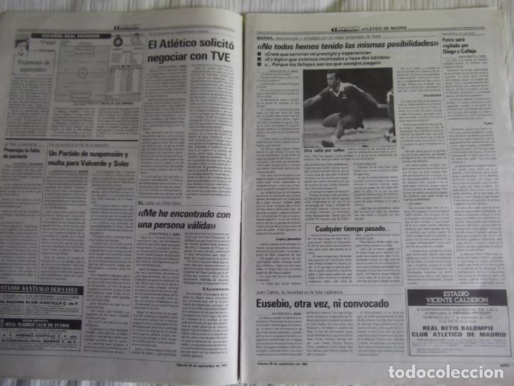 Coleccionismo deportivo: MARCA-1987-Nº14221-32 PAGINAS-BUTRAGUEÑO-REXACH-ZUBIZARRETA-SARABIA-MARTIN VAZQUEZ-MARINA-MARADONA - Foto 10 - 21149036