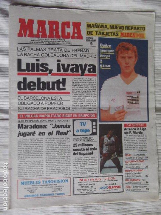 Coleccionismo deportivo: MARCA-1987-Nº14221-32 PAGINAS-BUTRAGUEÑO-REXACH-ZUBIZARRETA-SARABIA-MARTIN VAZQUEZ-MARINA-MARADONA - Foto 11 - 21149036