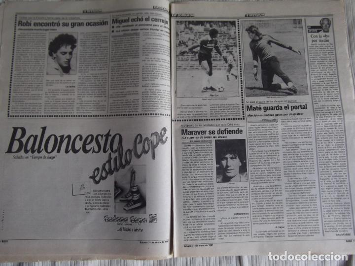 Coleccionismo deportivo: MARCA-1987-Nº14018-32 PAG-HUGO SANCHEZ-ZUBIZARRETA-MIGUELI-BUTRAGUEÑO-VICTOR-CHENDO-SOLA - Foto 5 - 21148985