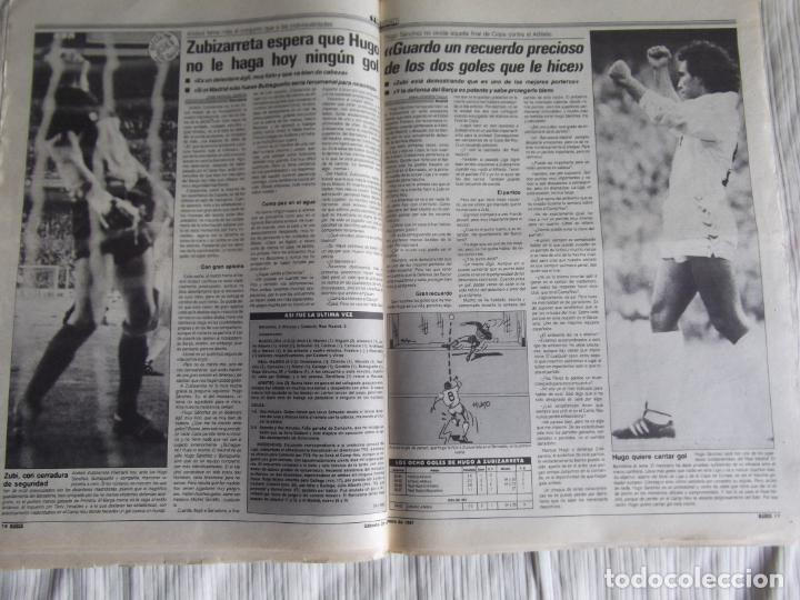 Coleccionismo deportivo: MARCA-1987-Nº14018-32 PAG-HUGO SANCHEZ-ZUBIZARRETA-MIGUELI-BUTRAGUEÑO-VICTOR-CHENDO-SOLA - Foto 6 - 21148985