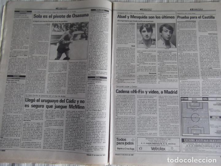 Coleccionismo deportivo: MARCA-1987-Nº14018-32 PAG-HUGO SANCHEZ-ZUBIZARRETA-MIGUELI-BUTRAGUEÑO-VICTOR-CHENDO-SOLA - Foto 7 - 21148985