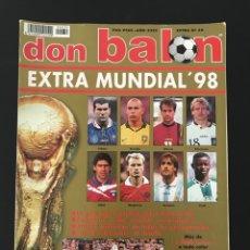 Coleccionismo deportivo: FÚTBOL DON BALÓN EXTRA 39 - MUNDIAL FRANCIA 1998 - ALBUM 98 AS MARCA CROMO ESPAÑA. Lote 210286582
