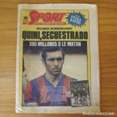 Colecionismo desportivo: SPORT 464, 3 MARZO 1981. QUINI SECUESTRADO, EXTRA RAPTO. FUTBOL CLUB BARCELONA BARÇA. Lote 210432038