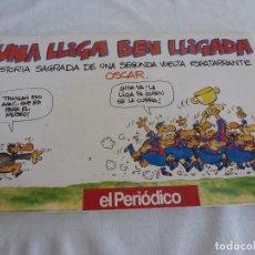 Coleccionismo deportivo: (LLL)LIBRO COMICO DE ÓSCAR-! UNA LIGA BIEN LIGADA! F.C.BARCELONA TEMPORADA 1990-91 BARÇA. Lote 210444737