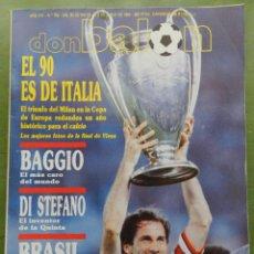 Collezionismo sportivo: REVISTA DON BALON Nº 762 AC MILAN CAMPEON COPA EUROPA 89/90 POSTER WINNER CHAMPIONS LEAGUE 1989-1990. Lote 210470226