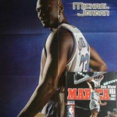 Coleccionismo deportivo: REVISTA SUPLEMENTO ESPECIAL MARCA GUIA OFICIAL NBA 2001/2002 EXTRA POSTER GIGANTE JORDAN GASOL 01/02. Lote 210477303