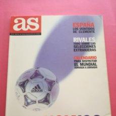 Coleccionismo deportivo: REVISTA GUIA DIARIO AS MUNDIAL FRANCIA 1998 - EXTRA COPA DEL MUNDO FRANCE 98 FIFA WM ESPAÑA. Lote 210479076