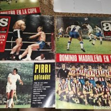 Coleccionismo deportivo: OCASION COLECCIONISTAS REVISTA AS COLOR FUTBOL 56 Y 57 1972 POSTER SAN ANDRES Y BOXEO BLIN Y URTAIN. Lote 210480993
