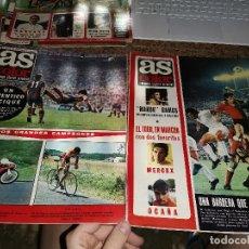 Coleccionismo deportivo: OCASION COLECCIONISTAS ! 2 REVISTA AS COLOR FUTBOL 58 Y 59 1972 POSTER BOXEO PEDRO CARRASCO Y FUENTE. Lote 210481720