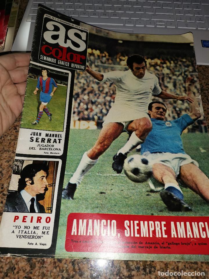 OCASION COLECCIONISTAS ! REVISTA AS COLOR FUTBOL NUMERO 78 1972 POSTER MARCIAL F.C BARCELONA (Coleccionismo Deportivo - Revistas y Periódicos - As)