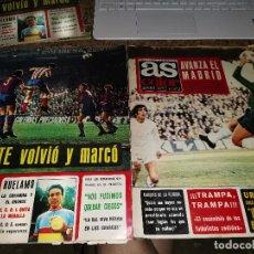 Coleccionismo deportivo: OCASION 2 REVISTA AS COLOR FUTBOL 82 Y 91 1972 POSTER ASENSI FC BARCELONA Y PIRRI REAL MADRID. Lote 210484493