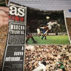 Coleccionismo deportivo: OCASION COLECCIONISTAS ! REVISTA AS COLOR FUTBOL NUMERO 185 1974 POSTER CENTRAL CD TENERIFE. Lote 210487952
