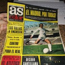 Coleccionismo deportivo: OCASION COLECCIONISTAS ! REVISTA AS COLOR FUTBOL NUMERO 256 1976 POSTER CENTRAL RACING SANTANDER. Lote 210488126