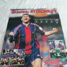 Coleccionismo deportivo: PÓSTER SPORT GRACIES STOICHKOV SPORT 80X60. Lote 210553746