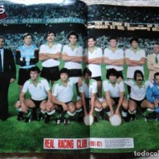 Coleccionismo deportivo: AS COLOR 548 POSTER REAL RACING CLUB 1981-82. Lote 210554720