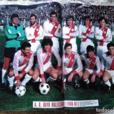Coleccionismo deportivo: AS COLOR 504 POSTER A.D RAYO VALLECANO 1980-81. Lote 210554907