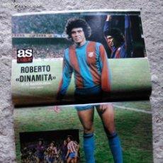 Coleccionismo deportivo: AS COLOR 455 POSTER ROBERTO DINAMITA (FÚTBOL CLUB BARCELONA). Lote 210555181