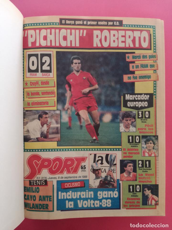 Coleccionismo deportivo: DIARIO SPORT TEMPORADA 88/89 FC BARCELONA CAMPEON RECOPA 1988/1989 TOMO 15 PERIODICOS BARÇA CRUYFF - Foto 2 - 210590177