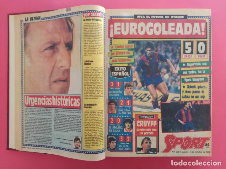 Coleccionismo deportivo: DIARIO SPORT TEMPORADA 88/89 FC BARCELONA CAMPEON RECOPA 1988/1989 TOMO 15 PERIODICOS BARÇA CRUYFF - Foto 3 - 210590177