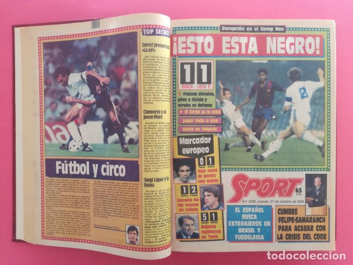 Coleccionismo deportivo: DIARIO SPORT TEMPORADA 88/89 FC BARCELONA CAMPEON RECOPA 1988/1989 TOMO 15 PERIODICOS BARÇA CRUYFF - Foto 4 - 210590177