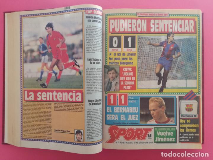 Coleccionismo deportivo: DIARIO SPORT TEMPORADA 88/89 FC BARCELONA CAMPEON RECOPA 1988/1989 TOMO 15 PERIODICOS BARÇA CRUYFF - Foto 6 - 210590177