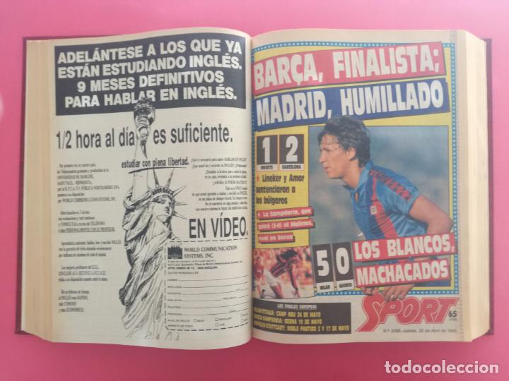 Coleccionismo deportivo: DIARIO SPORT TEMPORADA 88/89 FC BARCELONA CAMPEON RECOPA 1988/1989 TOMO 15 PERIODICOS BARÇA CRUYFF - Foto 8 - 210590177