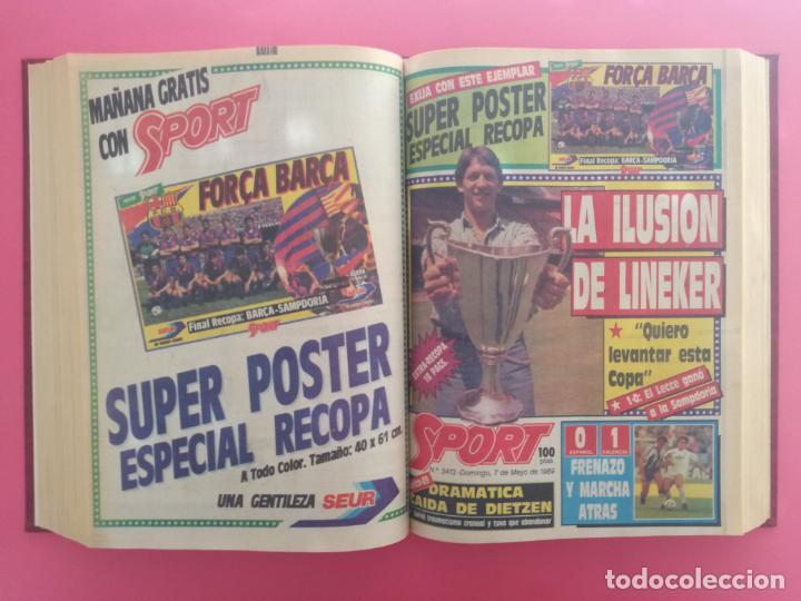 Coleccionismo deportivo: DIARIO SPORT TEMPORADA 88/89 FC BARCELONA CAMPEON RECOPA 1988/1989 TOMO 15 PERIODICOS BARÇA CRUYFF - Foto 11 - 210590177