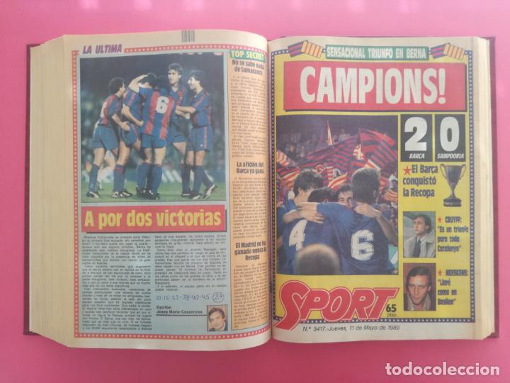 Coleccionismo deportivo: DIARIO SPORT TEMPORADA 88/89 FC BARCELONA CAMPEON RECOPA 1988/1989 TOMO 15 PERIODICOS BARÇA CRUYFF - Foto 14 - 210590177
