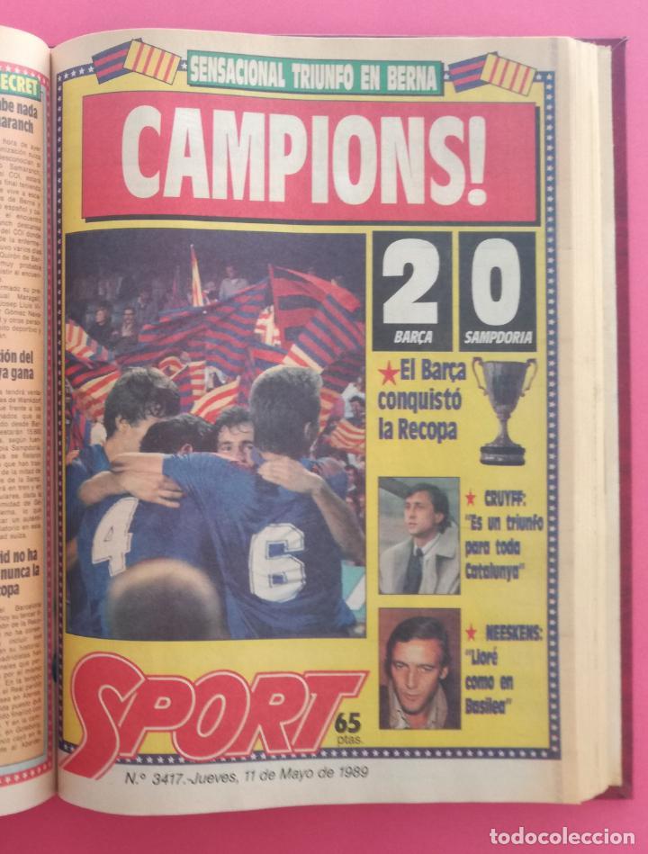 DIARIO SPORT TEMPORADA 88/89 FC BARCELONA CAMPEON RECOPA 1988/1989 TOMO 15 PERIODICOS BARÇA CRUYFF (Coleccionismo Deportivo - Revistas y Periódicos - Sport)