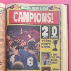 Coleccionismo deportivo: DIARIO SPORT TEMPORADA 88/89 FC BARCELONA CAMPEON RECOPA 1988/1989 TOMO 15 PERIODICOS BARÇA CRUYFF. Lote 210590177