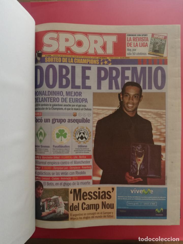 Coleccionismo deportivo: TOMO 19 PERIODICOS DIARIO SPORT TEMPORADA 05/06 FC BARCELONA CAMPEON CHAMPIONS 2005/2006 BARÇA - Foto 2 - 210594608