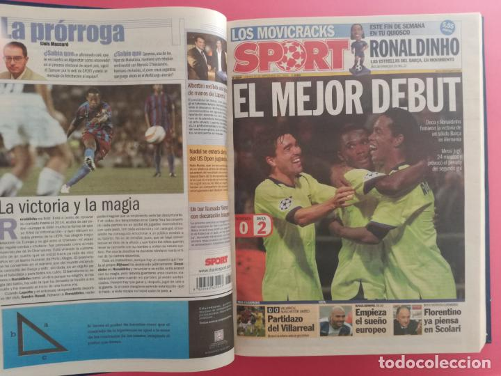 Coleccionismo deportivo: TOMO 19 PERIODICOS DIARIO SPORT TEMPORADA 05/06 FC BARCELONA CAMPEON CHAMPIONS 2005/2006 BARÇA - Foto 3 - 210594608