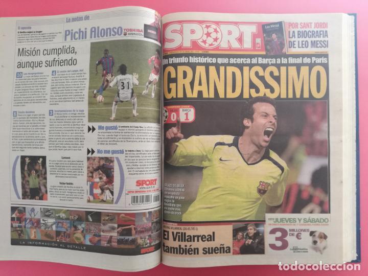 Coleccionismo deportivo: TOMO 19 PERIODICOS DIARIO SPORT TEMPORADA 05/06 FC BARCELONA CAMPEON CHAMPIONS 2005/2006 BARÇA - Foto 13 - 210594608