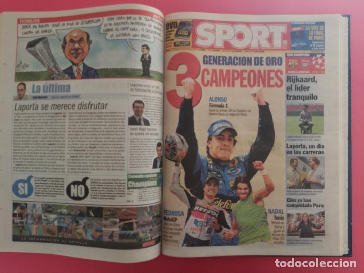 Coleccionismo deportivo: TOMO 19 PERIODICOS DIARIO SPORT TEMPORADA 05/06 FC BARCELONA CAMPEON CHAMPIONS 2005/2006 BARÇA - Foto 16 - 210594608