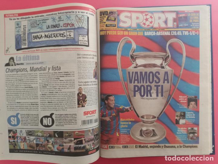 Coleccionismo deportivo: TOMO 19 PERIODICOS DIARIO SPORT TEMPORADA 05/06 FC BARCELONA CAMPEON CHAMPIONS 2005/2006 BARÇA - Foto 18 - 210594608