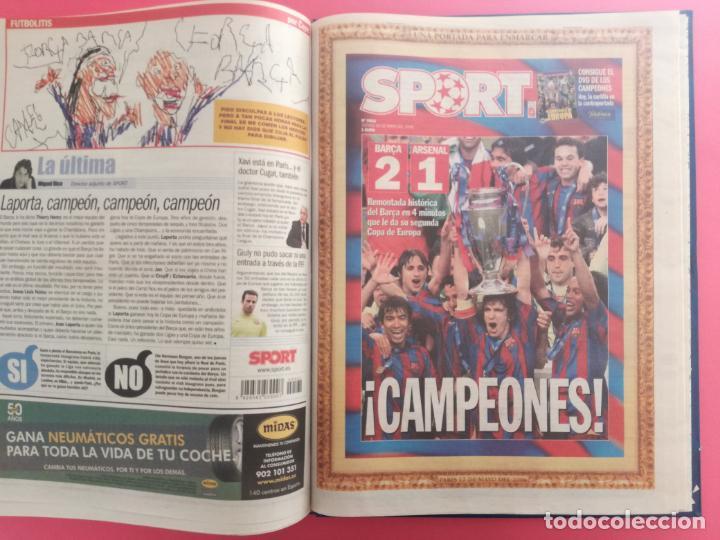 Coleccionismo deportivo: TOMO 19 PERIODICOS DIARIO SPORT TEMPORADA 05/06 FC BARCELONA CAMPEON CHAMPIONS 2005/2006 BARÇA - Foto 19 - 210594608
