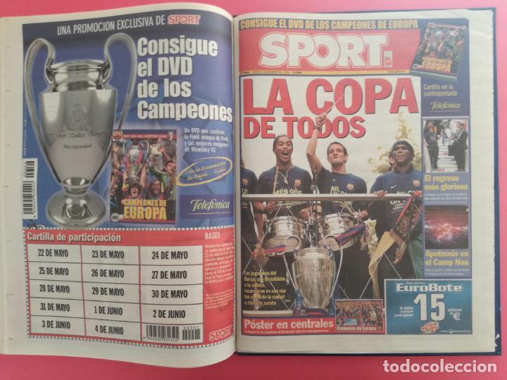 Coleccionismo deportivo: TOMO 19 PERIODICOS DIARIO SPORT TEMPORADA 05/06 FC BARCELONA CAMPEON CHAMPIONS 2005/2006 BARÇA - Foto 20 - 210594608