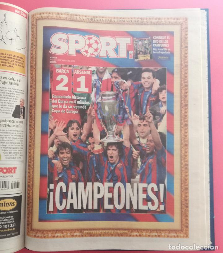TOMO 19 PERIODICOS DIARIO SPORT TEMPORADA 05/06 FC BARCELONA CAMPEON CHAMPIONS 2005/2006 BARÇA (Coleccionismo Deportivo - Revistas y Periódicos - Sport)