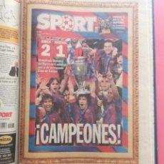 Coleccionismo deportivo: TOMO 19 PERIODICOS DIARIO SPORT TEMPORADA 05/06 FC BARCELONA CAMPEON CHAMPIONS 2005/2006 BARÇA. Lote 210594608